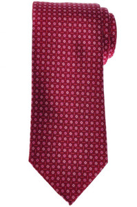 Brioni Tie Silk Red Pink Geometric 03TI0641