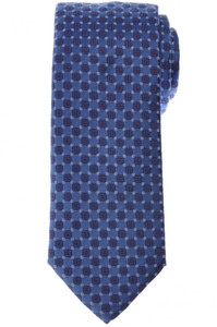 Brioni Tie Silk Blue Red Geometric 03TI0650