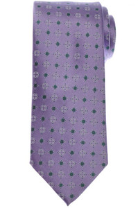 Brioni Tie Silk Purple Green Geometric 03TI0649