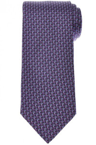 Brioni Tie Silk Purple Blue Geometric 03TI0647