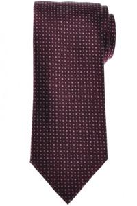 Brioni Tie Silk Burgundy Geometric 03TI0645
