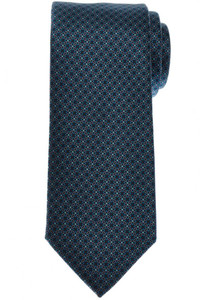 Brioni Tie Silk Green Blue Geometric 03TI0643