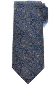 Brioni Tie Silk Blue Gray Paisley 03TI0662