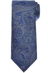 Brioni Tie Silk Gray Blue Paisley 03TI0660