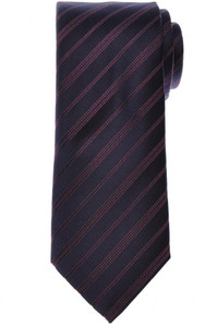 Brioni Tie Silk Blue Purple Stripe 03TI0656