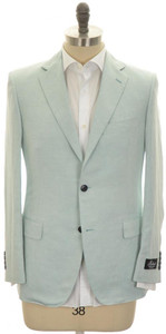 Belvest Sport Coat Jacket 2B Linen Silk Size 36 Light Blue