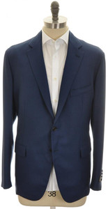 Belvest Sport Coat Jacket 2B Wool 48 58 Blue 50SC0283