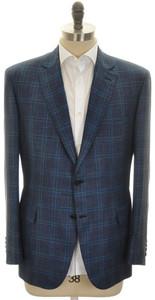 Brioni Sport Coat Jacket 'Brunico' Wool Blend 44 54 Blue Teal 03SC0117