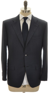 Kiton Suit 3B Diamante Blue 150s Wool 46 56 Blue Plaid 01SU0145