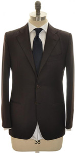 Kiton Suit 'Evo' 3B 14 Micron 180's Wool 38 48 Brown Solid 01SU0167