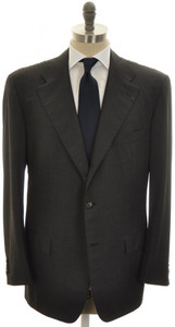 Kiton Suit 3B Wool 50 60 Gray Stripe 01SU0170