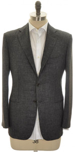 Kiton Sport Coat Jacket 3B Cashmere Linen Silk 38 48 Gray 01SC0165