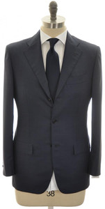 Kiton Suit 3B Wool 38 48 Blue Plaid 01SU0176