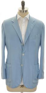 Kiton Sport Coat Jacket 3B Cashmere Silk 44 54 XL Blue 01SC0168