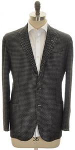 Kiton Sport Coat Jacket 3B Cashmere Silk 42 52 Large Gray Check 01SC0173