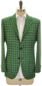 Kiton Sport Coat Jacket 'LASA' 3B Cashmere Blend 40 50 Green 01SC0172