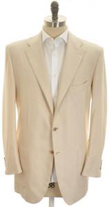 Kiton Sport Coat Jacket 3B Cotton Cashmere Silk 46 L 56 L Brown 01SC0182