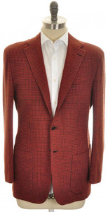 Kiton Sport Coat Jacket 3B Cashmere Blend 40 50 Red Brown