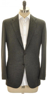 Kiton Sport Coat Jacket 3B Cashmere Cotton 42 52 Green-Gray
