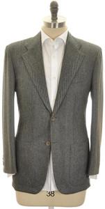 Kiton Sport Coat Jacket 2B Cashmere 40 50 R10 Gray Herringbone