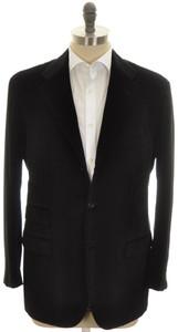 Kiton Sport Coat Jacket 3B Cotton Cashmere Velvet 42 52 Black 01SC0203