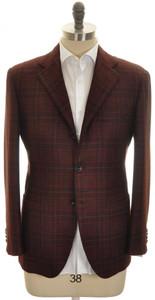 Kiton Sport Coat Jacket 'LASA' 3B Cashmere Vicuna 40 50 Brown Red