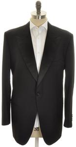 Kiton Sport Coat Tuxedo Jacket 1B Peak Lapel Wool 48 L 58 L Black 01SC0207