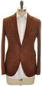 Boglioli 'Grant' Sport Coat Jacket 2B Wool Silk 40 50 Brown