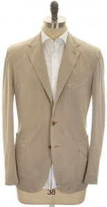 Boglioli 'Coat' Sport Coat 3B Cotton Silk Stretch 44 54 Brown 24SC0212