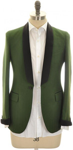 Boglioli 'Alton' Sport Coat 1B Shawl Cashmere Cotton 36 46 Green