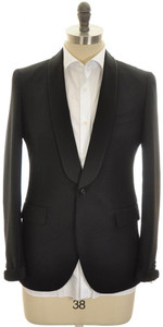 Boglioli 'Alton' Sport Coat 1B Shawl Wool Mohair 38 48 Black 24SC0219