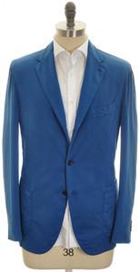Boglioli Sport 'Coat' Jacket 3B Cotton Silk Stretch 44 54 Blue