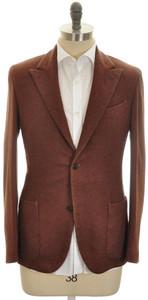 Boglioli 'K Jacket' Sport Coat 2B Peak 100% Cashmere 38 48 Brown