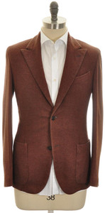 Boglioli 'K Jacket' Sport Coat 2B Peak 100% Cashmere 38 48 Brown 24SC0231