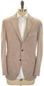 Boglioli 'Coat' Sport Coat Jacket Cotton Stretch 44 54 Brown
