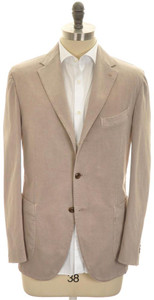 Boglioli 'Coat' Sport Coat Jacket Cotton Stretch 44 54 Brown 24SC0238