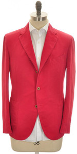 Boglioli 'Coat' Sport Coat Jacket Cotton Linen 42 52 Red 24SC0237