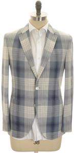 Boglioli 'Dover' Sport Coat Jacket 2B Silk Cotton 38 48 Blue Gray