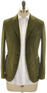 Boglioli 'Coat' Sport Coat Jacket 3B Stretch Corduroy 38 48 Green
