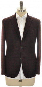 Boglioli 'K Jacket' Sport Coat 3B Wool Blend 38 48 Purple Black