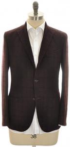 Boglioli 'K Jacket' Sport Coat 3B Wool Blend 38 48 Purple Black 24SC0233