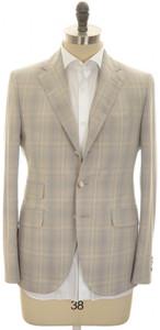 Boglioli 'York' 3B Sport Coat Fine Cotton 38 48 Brown Blue Plaid 24SC0240