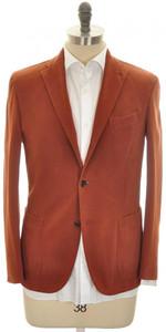 Boglioli 'K Jacket' 3B Sport Coat Cotton Stretch 38 48 Rust Brown