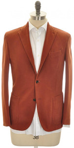 Boglioli 'K Jacket' 3B Sport Coat Cotton Stretch 38 48 Rust Brown 24SC0248