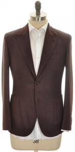 Boglioli 'K Jacket' 2B Sport Coat Wool Cashmere 38 48 Brown Tweed 24SC0246