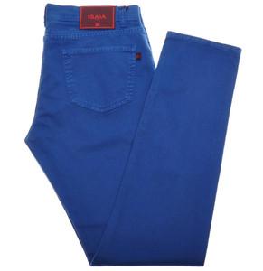 Isaia Napoli Denim Jeans Cotton Stretch 36 Blue