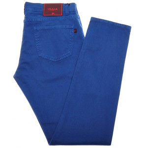 Isaia Napoli Denim Jeans Cotton Stretch 36 Blue 06JN0181