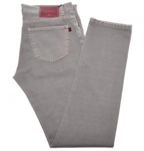 Isaia Napoli Selvedge Denim Jeans Cotton 36 Gray