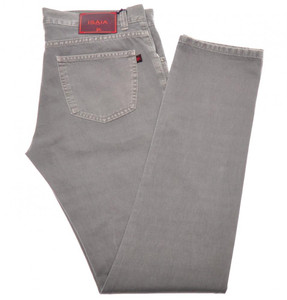 Isaia Napoli Selvedge Denim Jeans Cotton 33 Gray 06JN0170