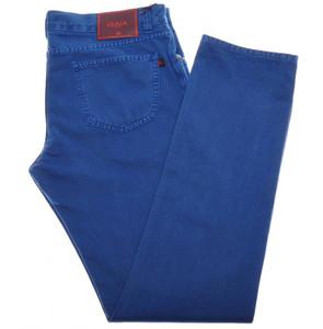 Isaia Napoli Selvedge Denim Jeans Cotton 44 Blue